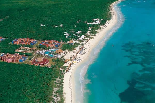 Foto aerea hotel riviera maya tres rios playa maroma